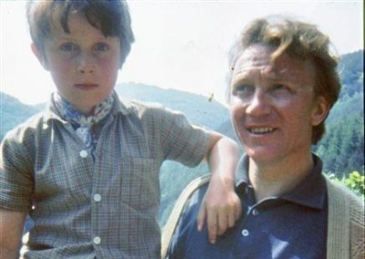 Adam as a boy with his dad