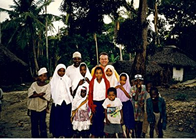 Adam in his village in Zanzibar