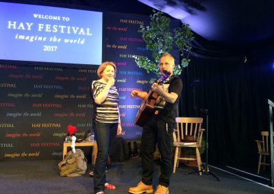 Adam and Charlotte at the Hay Festival 2017